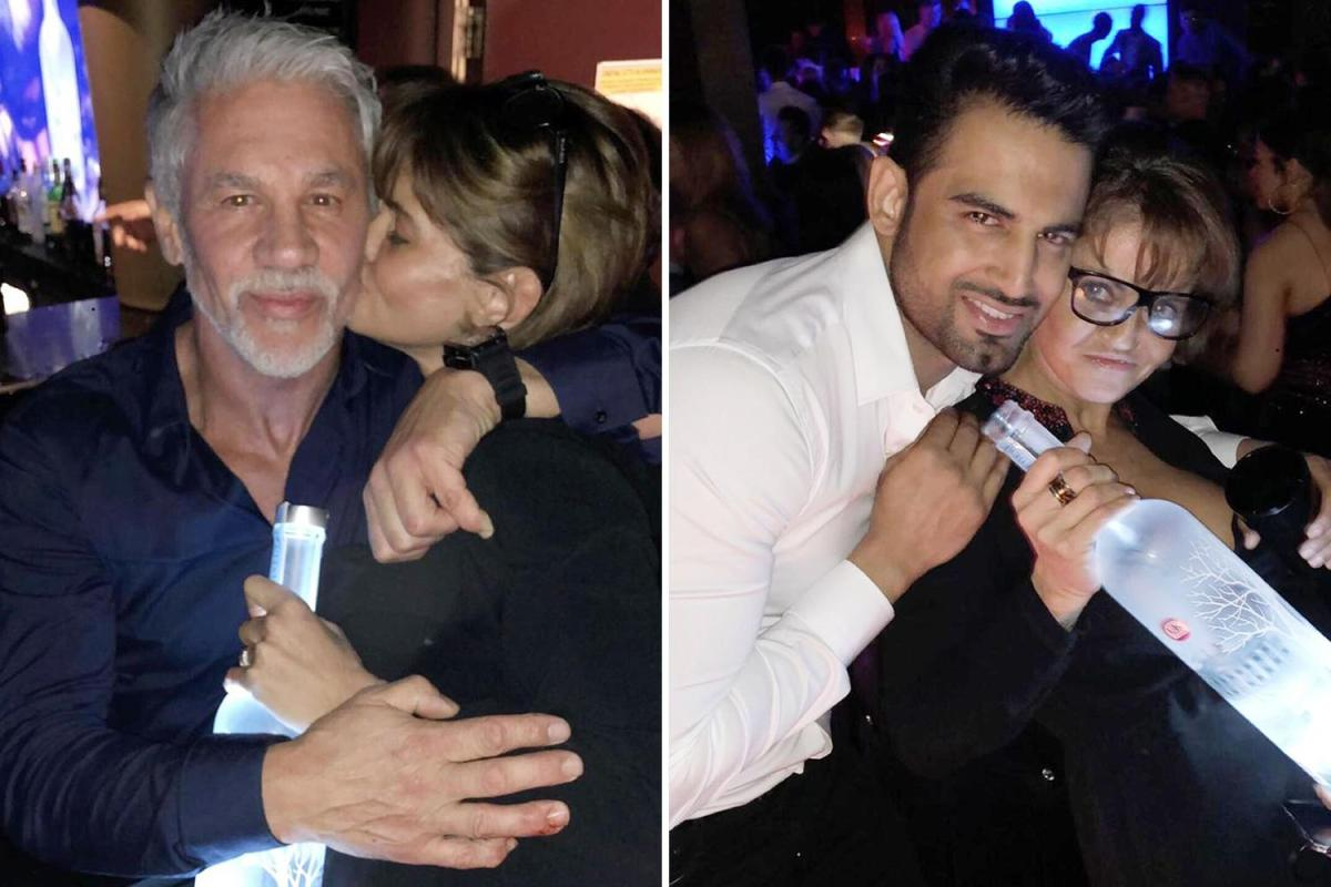 Danniella Clutches A Bottle Of Vodka Alongside Gary Lineker's Brother photo