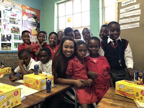 Dineo Ranaka Visits Soweto And Donates 1000 School Shoes To Learners In Need photo