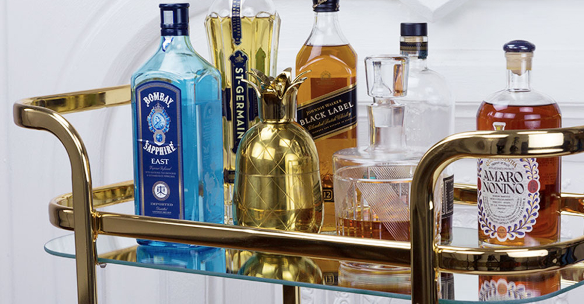 Everyone Needs A Stylish And Affordable Bar Cart photo