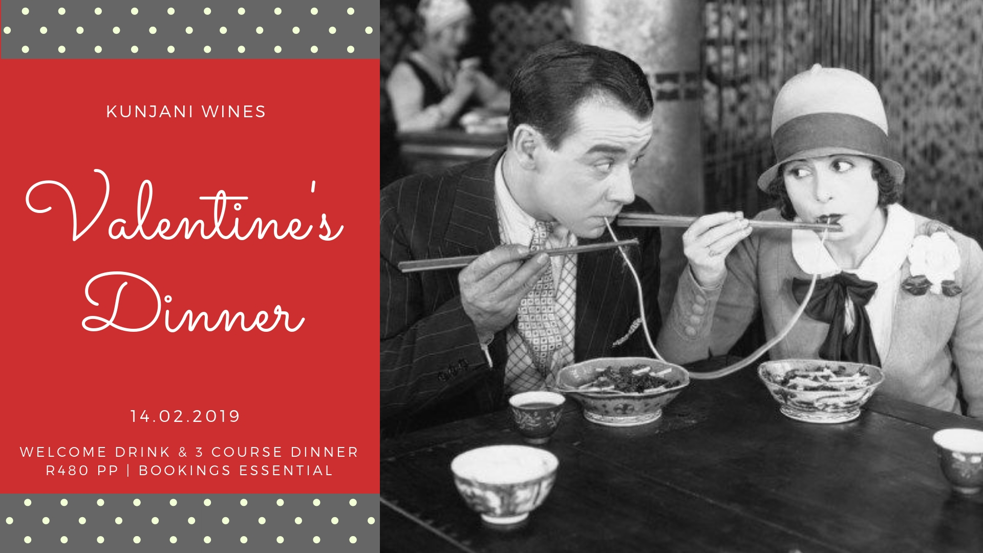 Old School Romance at Kunjani Wines this Valentine's Day photo