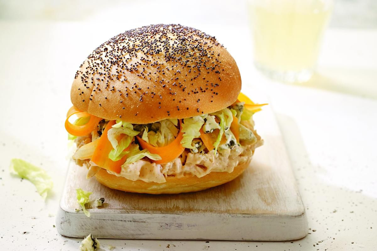 Bbq Chicken And Blue Cheese Sandwiches photo