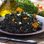 Champagne and Mushroom Risotto with Black Rice photo