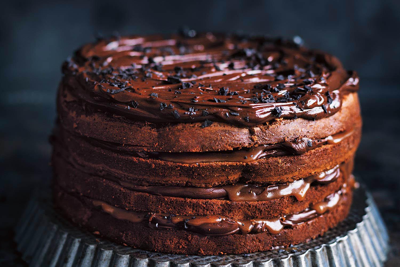 Chocolate Fudge And Salted Caramel Layer Cake photo