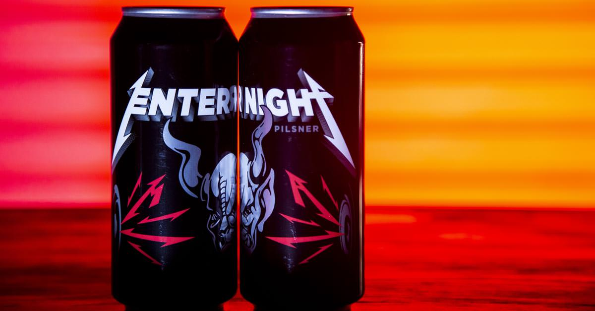 Metallica Releases 'enter Night' Pilsner In Collaboration With Stone Brewing photo