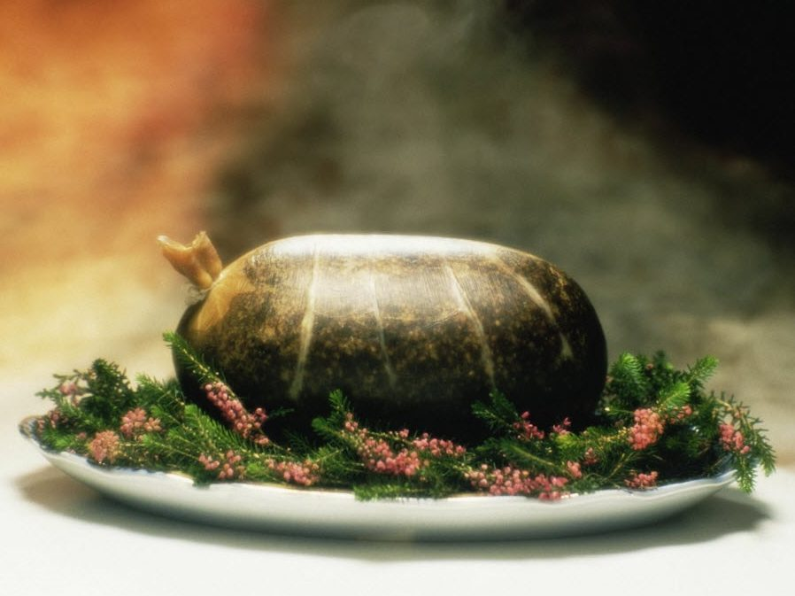 Celebrating Famous Scottish Bard Robbie Burns With Haggis, Tatties And A Wee Dram Of Whisky photo