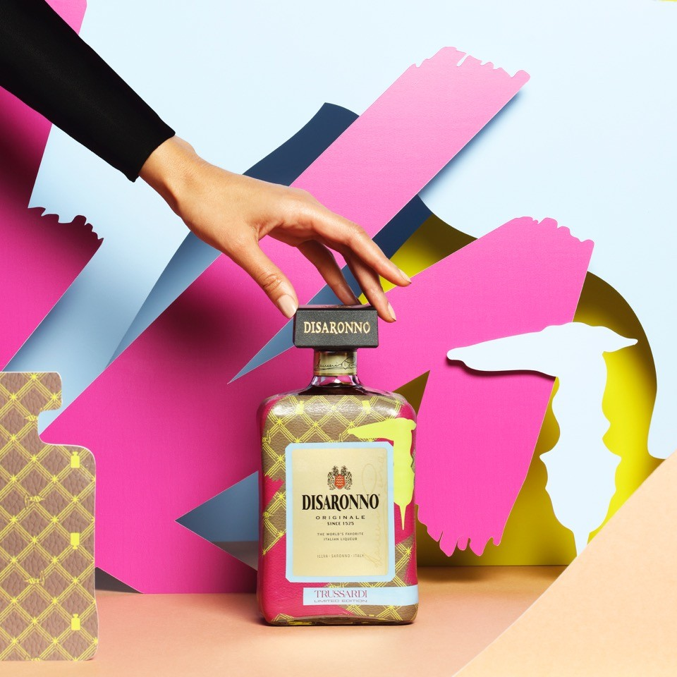 TRUSSARDI Dresses DISARONNO with Limited Edition Bottle