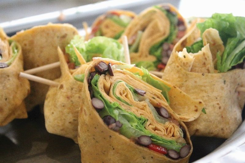 #greenmondaysa: Black Bean And Sweet Potato Burritos photo