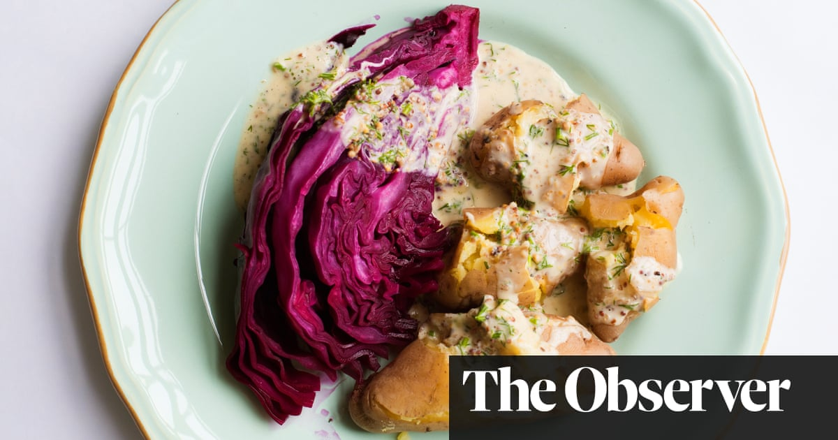 Nigel Slater's Red Cabbage With Cider And Steamed Potatoes Recipe photo