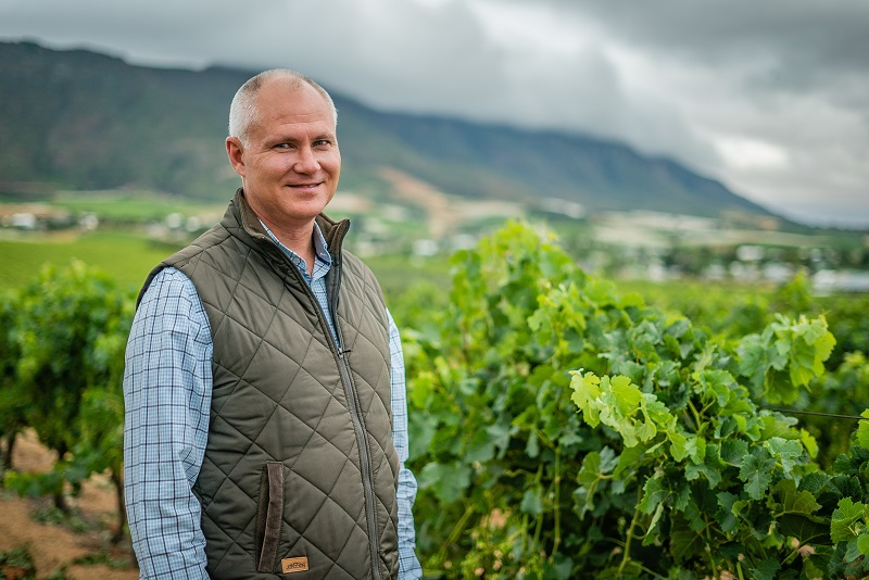 Andre Engelbrecht CEO of Riebeek Wine Valley Co. lr Riebeek Cellars rebrands to Riebeek Valley Wine Co.