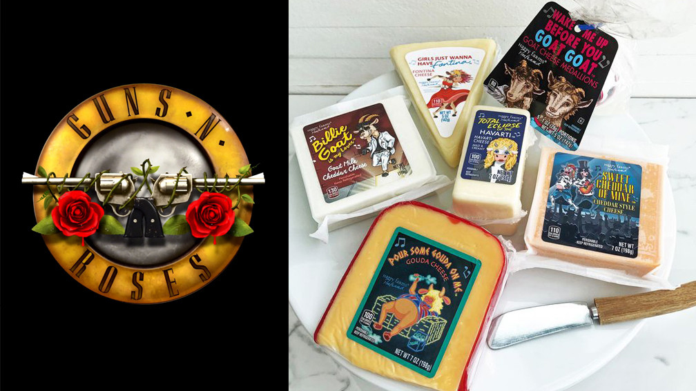 Aldi To Release Guns N' Roses And Def Leppard-themed Cheese photo