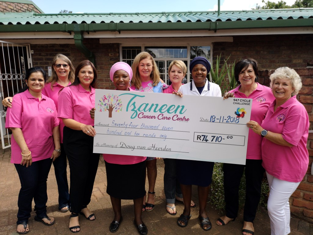 Tzaneen: Cyclists Donate To Care Group photo