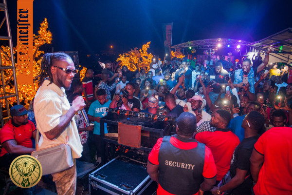 Highlights From Fun Moments With Burna Boy, Dj Instinct Atjagermeister#afterdarkfusionparty photo