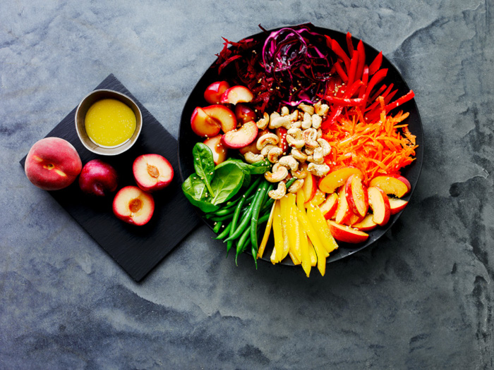 How Do You Eat A Rainbow? Follow This Easy Recipe For A Rainbow Superfood Salad Bowl photo