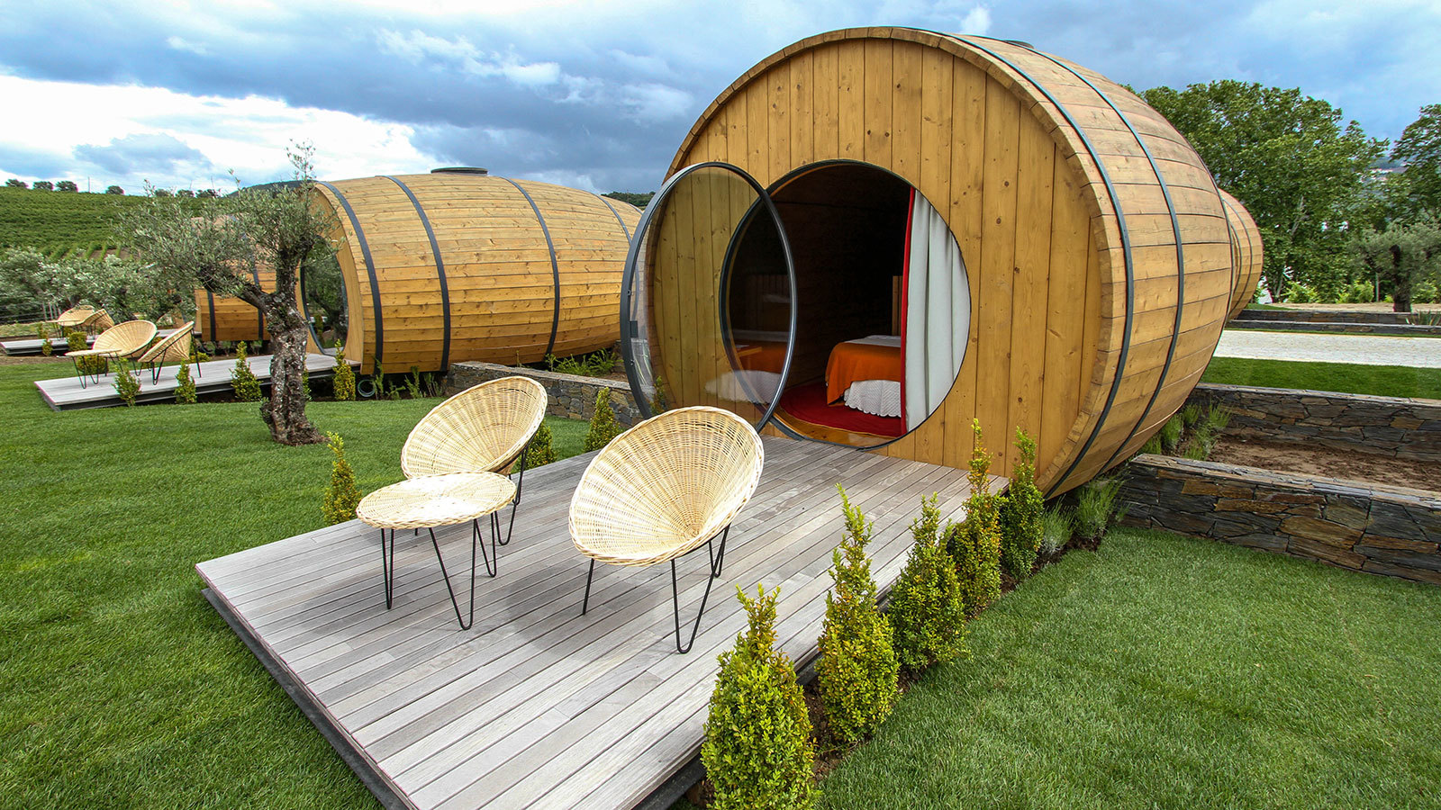 Spend The Night In A Wine-barrel Hotel Room! photo