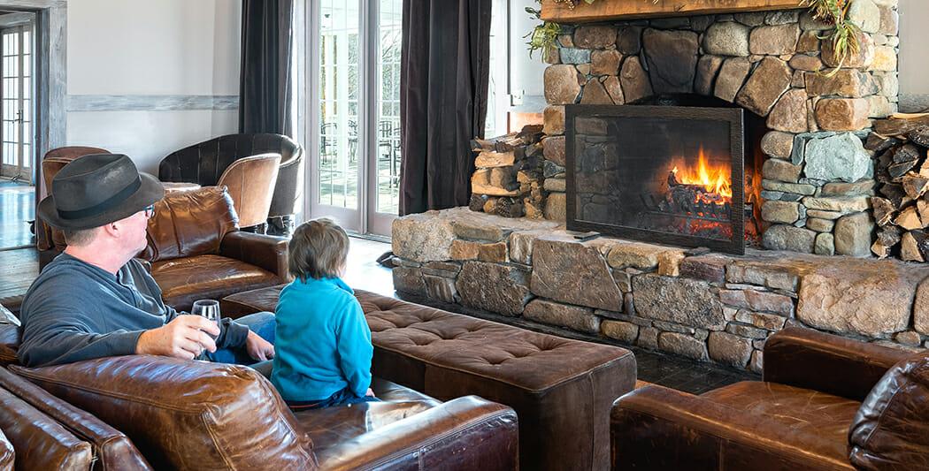 Winter Pairing: Wine And Fire photo