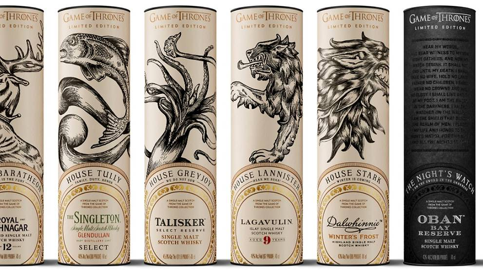 Hbo Releases Limited-edition Game Of Thrones Whiskey Collection photo