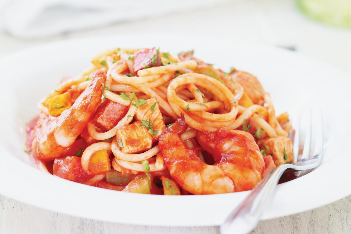 Mix Things Up With Spaghetti Jambalaya photo