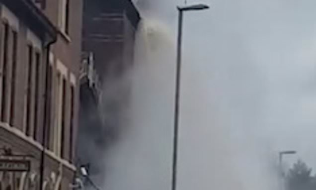 A Waterfall Of Beer Rains Down From Manchester Brewery's Rooftops photo