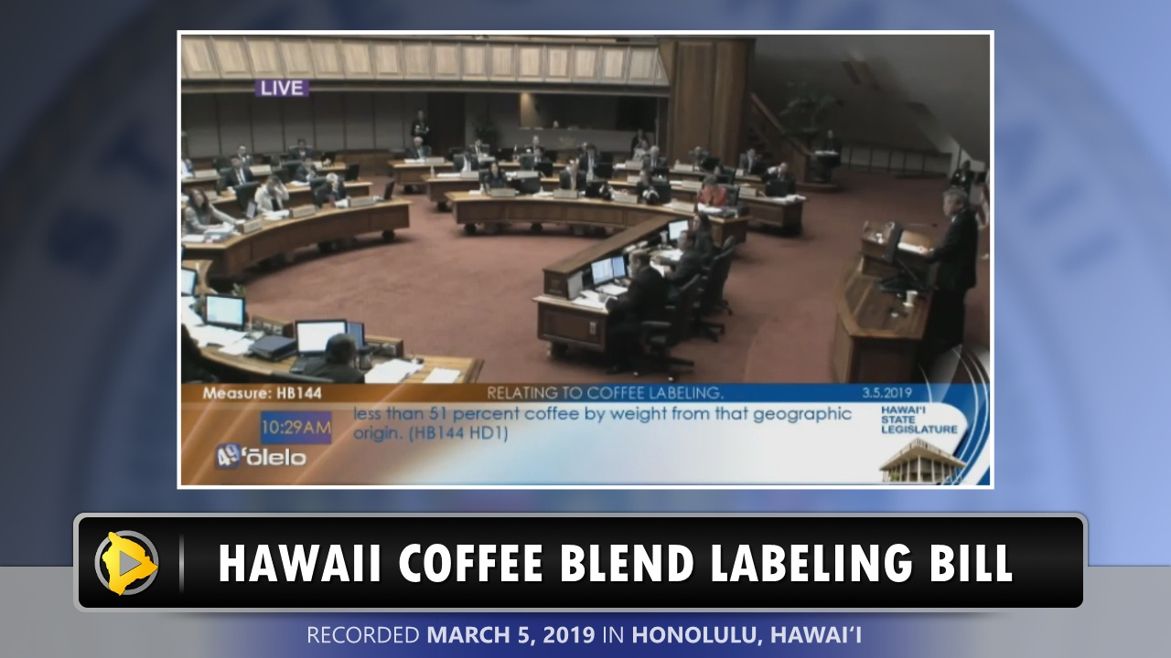 Video: Hawaii Coffee Blend Labeling Bill Passes House photo