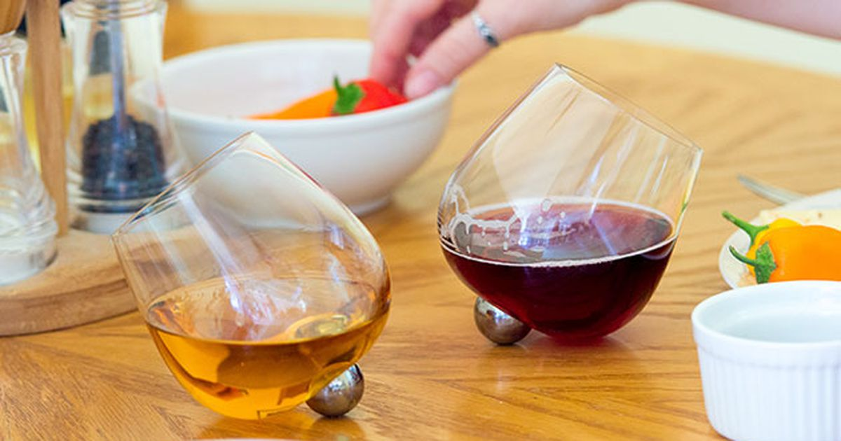 Save $46 On This Set Of Wine Glasses That Won't Knock Over photo