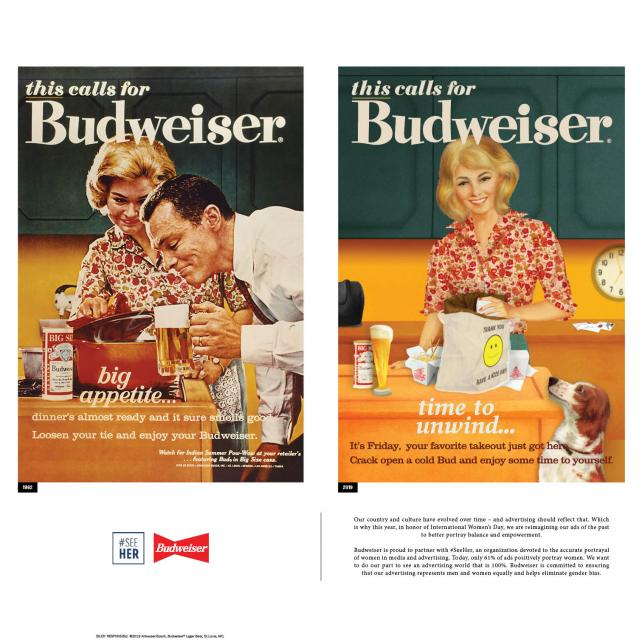 Budweiser Modernizes Its Old Sexist Ads For Women's Day Campaign photo