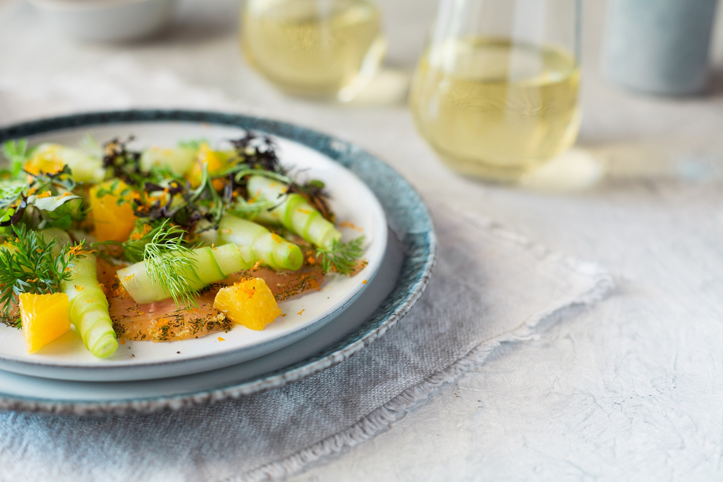 Citrus and Fennel Cured Franschhoek trout photo