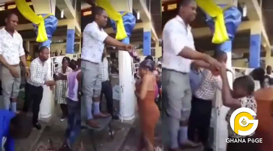 Popular Pastor Spotted Anointing Congregation With Coke And Fanta photo