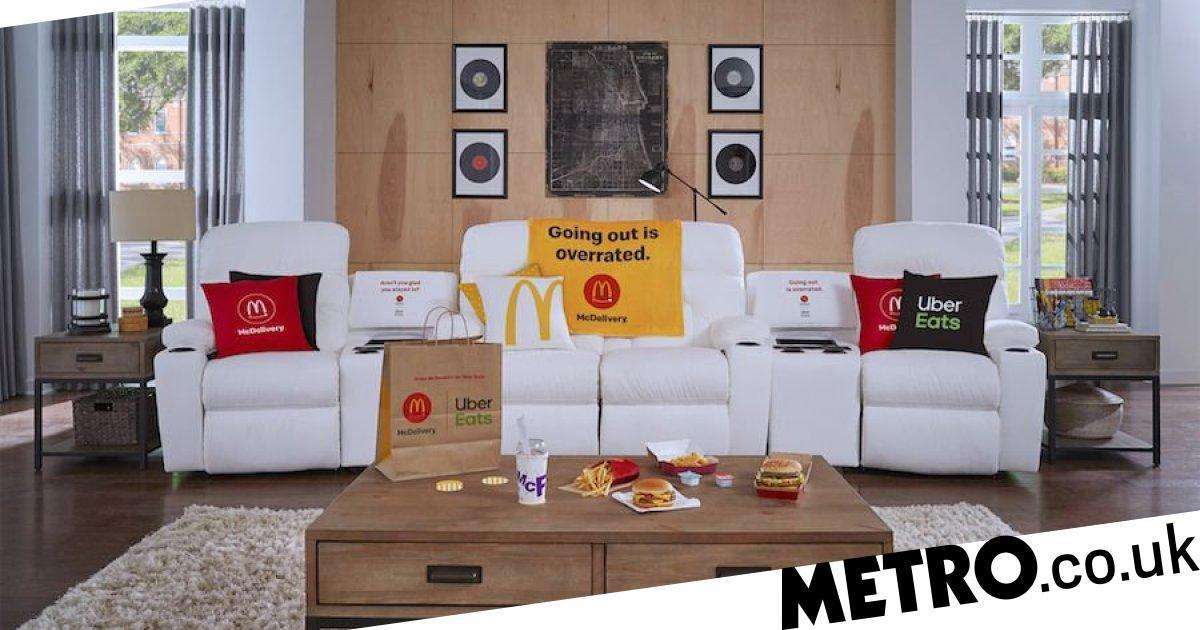Pose With A Mcdonald's Meal To Win La-z-boy Sofa With Built-in Mcflurry Chiller photo