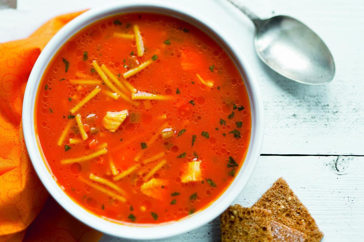 Carrot Juice Is The Secret To This Uniquely Delicious Chicken Noodle Soup photo