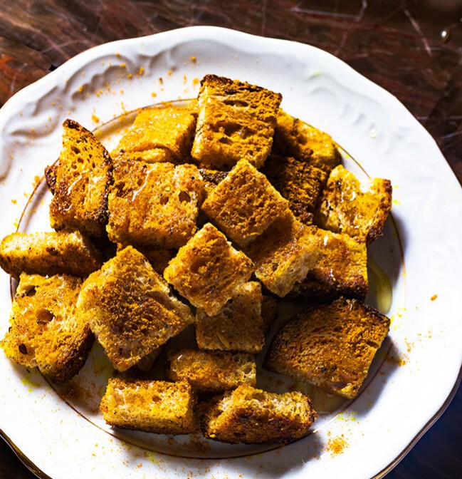 currycrouton2 3 Croutons recipes to upgrade your soups and salads