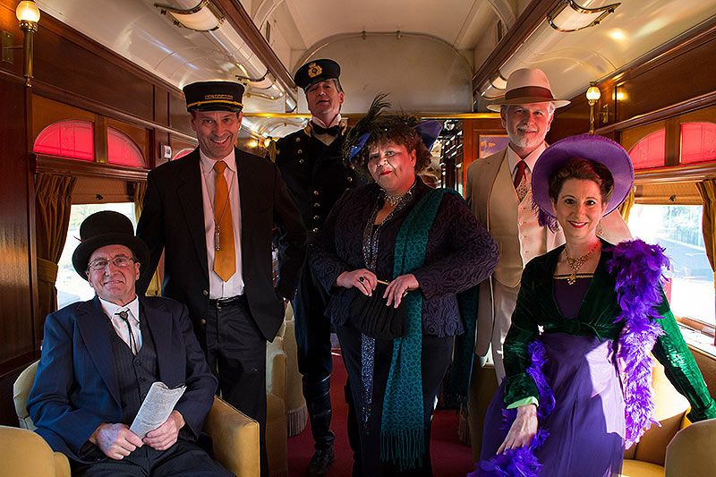 mystery dinner Solve a Murder Mystery On Board A Wine Tasting Train Through Napa Valley
