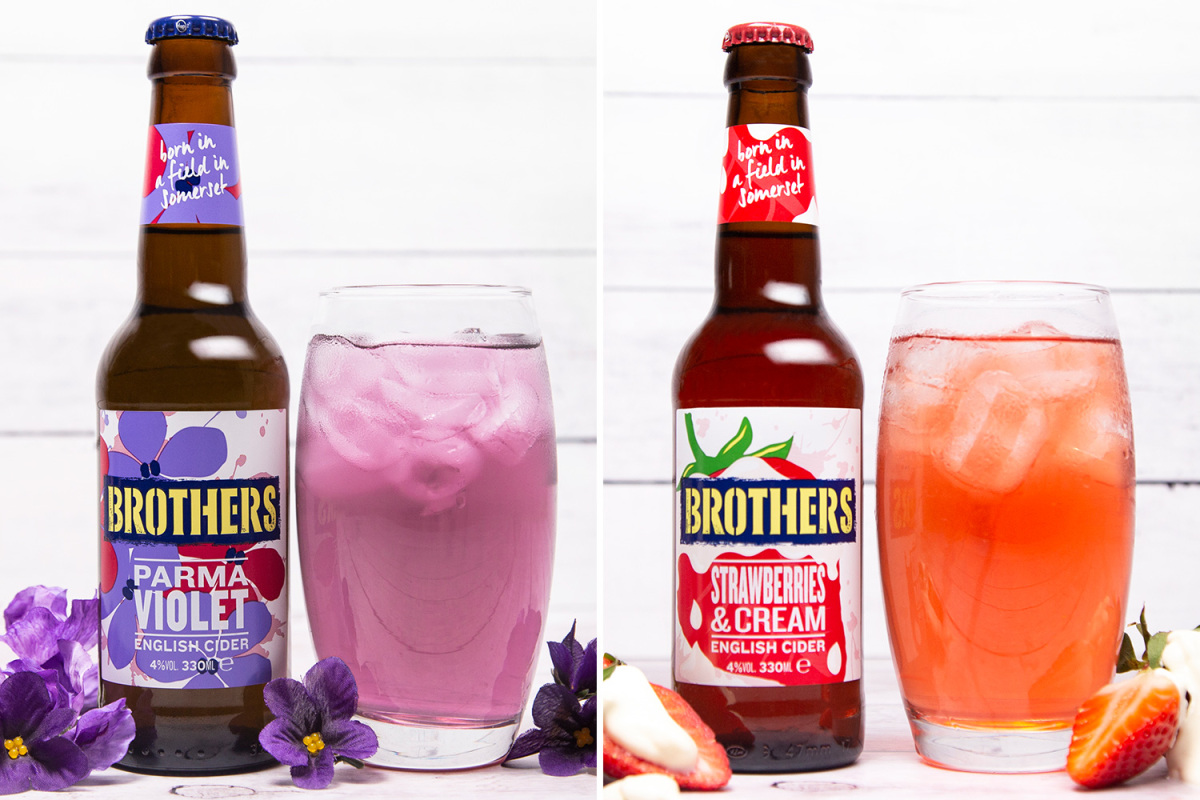 You Can Now Get Parma Violet And Strawberries And Cream Brothers Cider photo