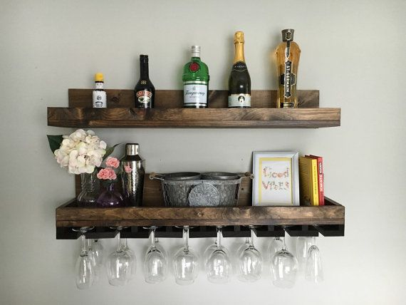 wall 8 Artistic Ideas To Make Your Mini Home Bar Fit In Your Home Spaces