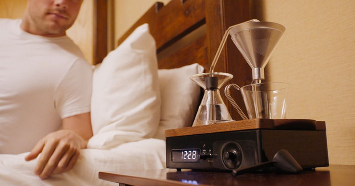 This High-tech Alarm Clock Will Make You Coffee — And It's On Sale photo