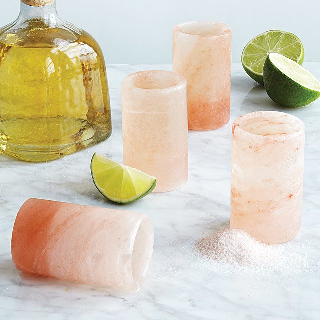 These Himalayan Salt Shot Glasses Will Turn You Into A Tequila Drinker photo