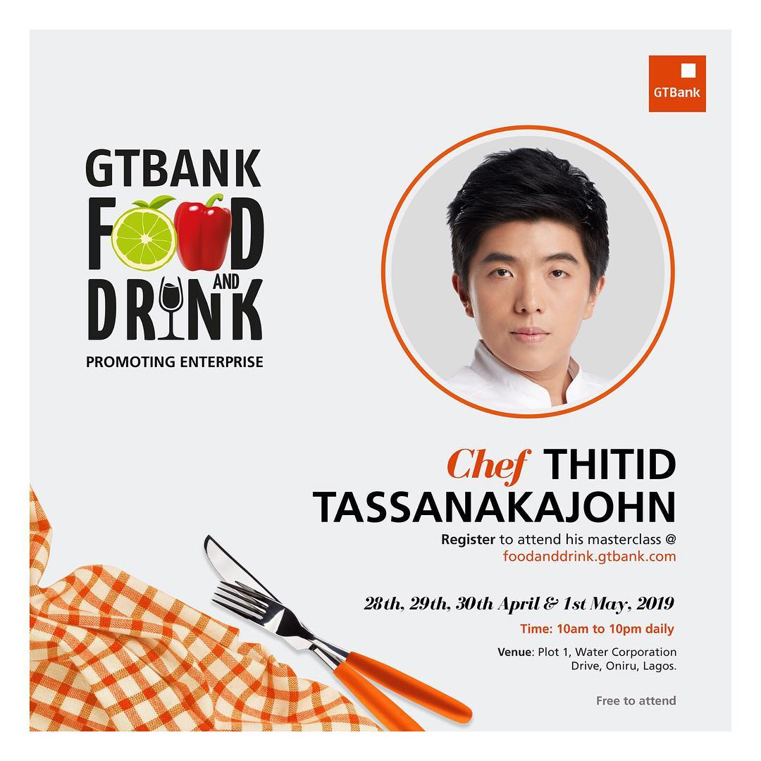 10 Days To Go! Meet The Culinary Headliners For Gtbank Food & Drink Masterclass photo