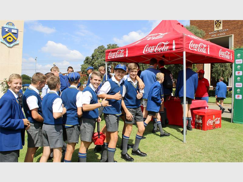 Coca-cola Dishes Out Cold Drinks To Marais Viljoen Cricketers photo