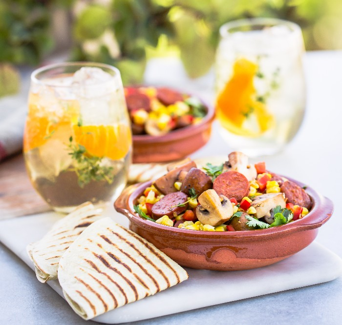 Chorizo, Corn & Portabellini Bowls photo