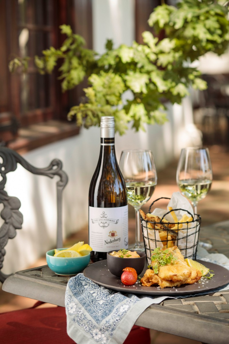 Fish chips with Nederburg HH The Anchorman HR A Touch Of Tradition At Nederburg This Easter