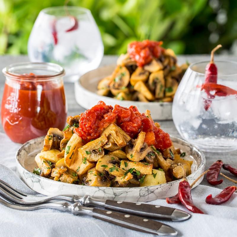 Mushroom Bravas Pairing Craft Gin With Mushrooms