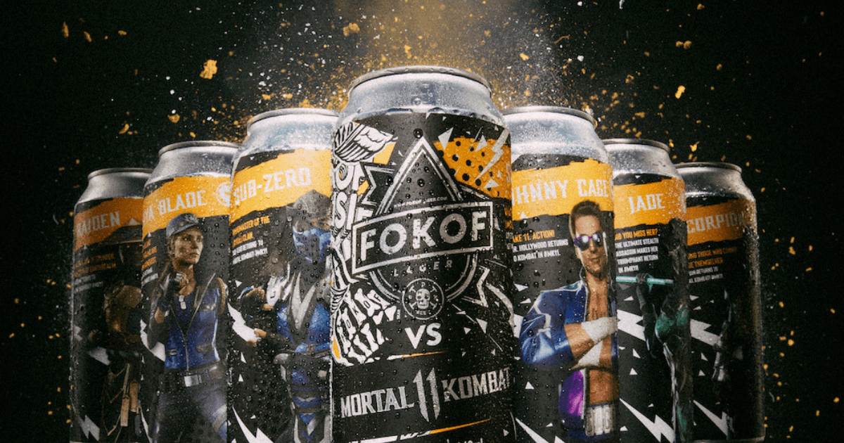 Fokof Lager Team Up With Mortal Kombat 11 For A Limited Edition Gamer Can photo
