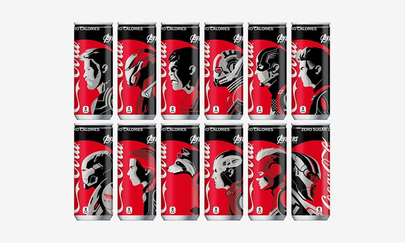 'avengers: Endgame' Characters Featured On Coca-cola Cans photo