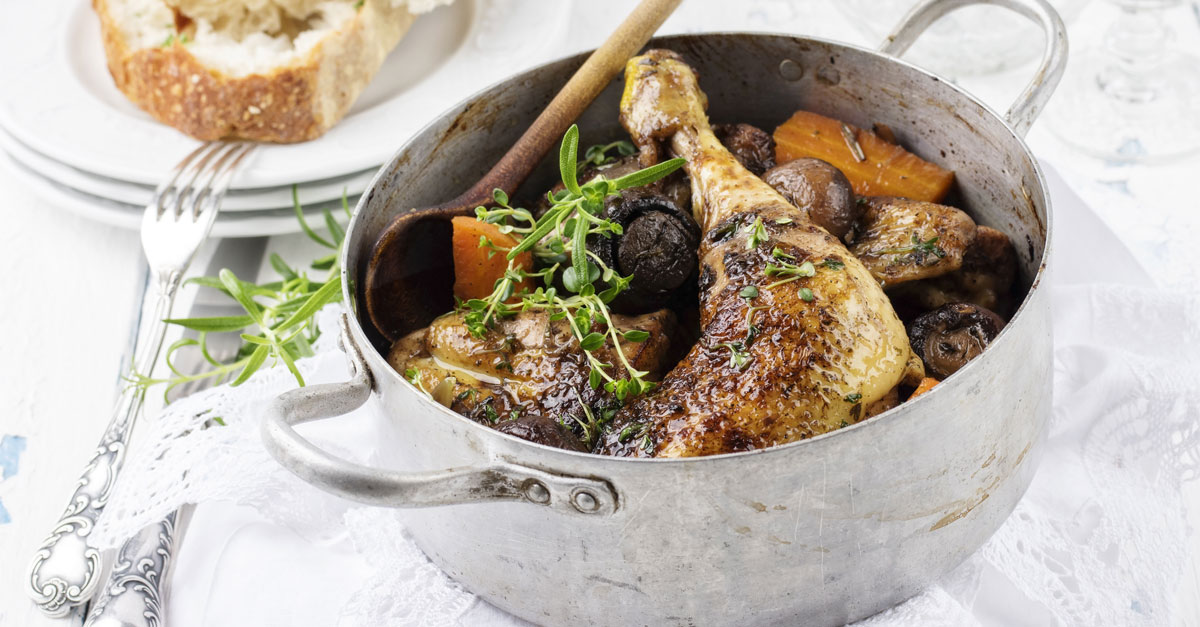 Raising A Glass To Coq Au Vin, A 'sublime French Country Classic' photo