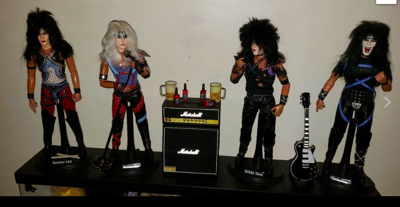 One-of-a-kind Custom MÖtley CrÜe Figures Complete With Jack Daniels And Replica Of Tommy Lee's Massive Drum Kit (& More!) photo