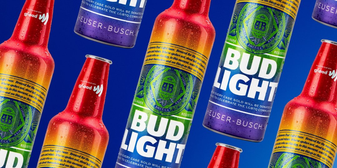 Budweiser Embraces Pride Month With Rainbow Bottles photo