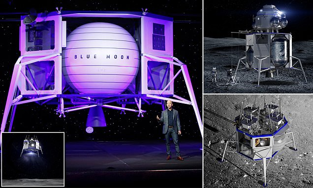 Blue Origin Is 'going To The Moon': Jeff Bezos Unveils Lunar Lander photo