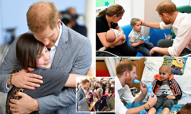 Prince Harry Arrives At Oxford Children's Hospital photo