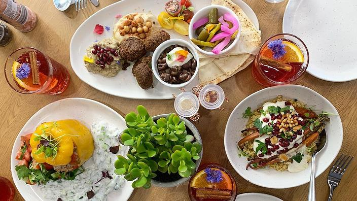 Middle Eastern Food Meets Veganism At Khamsa Cafe photo
