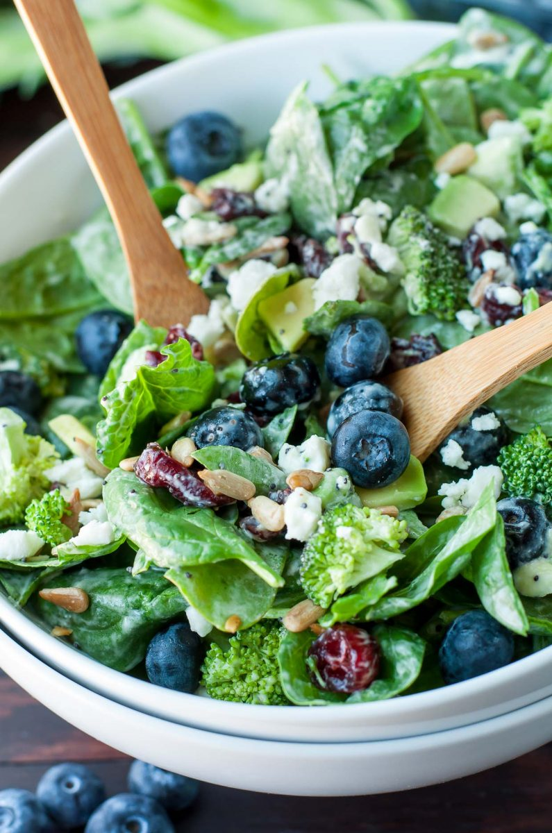 Blueberry Broccoli Spinach Salad With Poppyseed Ranch photo