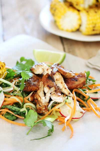 Lime, Corn and Soy Chicken With Asian Slaw photo